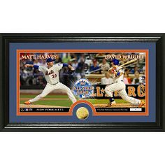 New York Mets Matt Harvey and David Wright 2013 All-Star Game Bronze Coin Pano Photomint by Highland Mint - MLB.com Shop