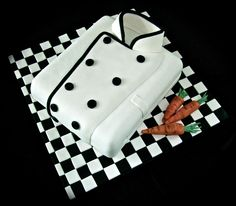 Chefs jacket cake - Cake by Vanessa Cake Design For Men, Chef Cake, Shirt Cake, Fantasy Cake, Gateaux Cake, Character Cakes, Cakes For Men, Novelty Cakes, Occasion Cakes
