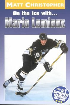 A biography with black-and-white photographs, player statistics, and a list of career highlights describes the Pittsburgh Penguin's rise to fame, including his role with the Canadian hockey team in the 2002 Olympic Winter Games.