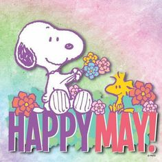 Snoopy and Woodstock. Happy May!