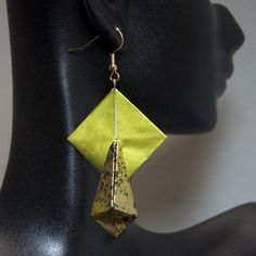 Teardrop Bead with Tab by Michael LaFosse Origami Jewelry, Drop Earrings, Beads, Reading, O Beads, Beading, Pearls, Drop Earring, Bead