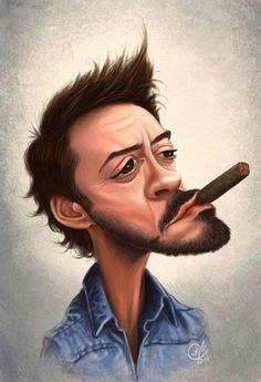 Robert Downey Jr. - CARICATURE: http://dunway.com/