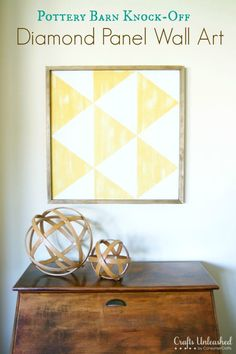 Wall Art DIY: Pottery Barn Diamond Panel Knock-Off