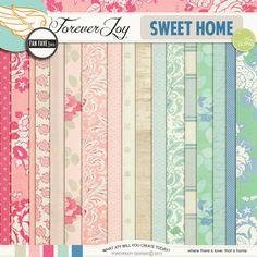 Digital Scrapbooking Kit - SWEET HOME | ForeverJoy Designs