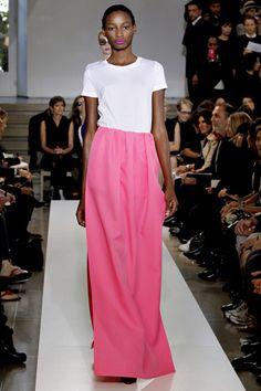 Jil Sander spring 2011 - pink maxi skirt