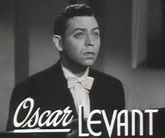 ON THIS DAY IN JAZZ AGE MUSIC!: AN OSCAR LEVANT BIRTHDAY SPOTLIGHT...