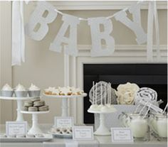 White Winter Baby Shower