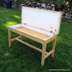 This old piano bench was turned into a COFFEE TABLE...and you've just gotta see how it turned out! Love!