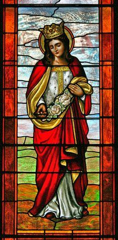 Saints of the Liturgical Calendar Stained Glass Church, Stained Glass Paint, Stained Glass Designs, Stained Glass Windows, Leaded Glass, Mosaic Glass, Glass Art, Catholic Art, Religious Art