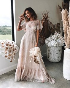 The Capri Gown by Grace Loves Lace robe dresses dresses beach dresses boho dresses lace dresses princess dresses vintage Grace Loves Lace, Ball Dresses, Ball Gowns, Dresses With Sleeves, Short Sleeves, Black Wedding Dresses, Wedding Gowns, Unusual Wedding Dresses, Wedding Black