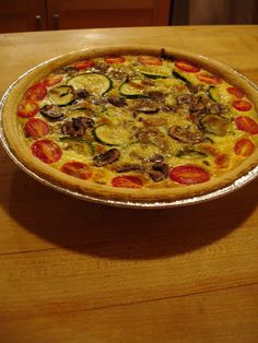 QUICHE WITH VEGETABLES
