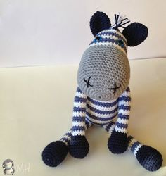 We continue to share wonderful amigurumi crochet patterns. Amigurumi crochet cute monkey free english pattern is waiting for you in our article. Crochet Zebra, Crochet Baby, Free Crochet, Crochet Stitch, Amigurumi Free, Amigurumi Doll, Crochet Patterns Amigurumi, Crochet Dolls, Knitting Patterns
