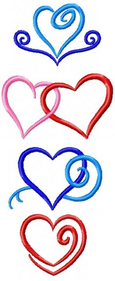 Advanced Embroidery Designs - Valentine Heart Set
