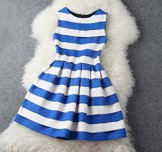 Dress with Blue and White Stripe Dress - so cute!