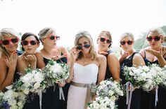 Love this picture of the bride with her bridesmaids!