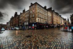 a wet, rainy Edinburgh, Scotland :-)