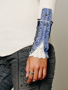 Free People We The Free Kyoto Cuff Thermal in ivory at Free People Clothing Boutique
