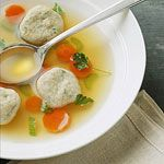 Celebrate Passover with Crafts and Food: Dill-Flavored Matzah Ball Soup (via Parents.com)