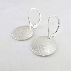 Silver Drop Earrings, Unique Earrings, Boho Earrings, Etsy Earrings, Sterling Silver Earrings, Sleeper Earrings, 14k Gold Jewelry, Sandpaper, Silver Gifts