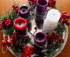 Lineage of Expectation: A Welcome Back to Advent - explanation of the symbolism of the Advent wreath Homemade Advent Wreath, Advent Wreath Prayers, Christmas Advent Wreath, Christmas Decorations, Advent Wreaths, Holiday Decorating, Christmas Is Coming, Christmas Love, All Things Christmas