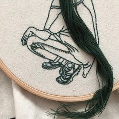 "775 Likes, 9 Comments - Sheena Liam | 粘悦馨 (@_______ism) on Instagram: ""Pre-braid. #embroidery #embroideryart #handembroidery #embroideryhoop"""