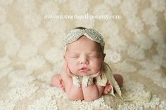 Newborn Wristlet And Headband Set Vintage by ASweetSweetBoutique, $10.00