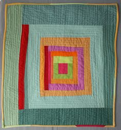 Sujata Shah -- The Root Connection: My Quilts Quilting Projects, Quilting Designs, Sewing Projects, Gees Bend Quilts, Collages, Log Cabin Quilts, Log Cabins, Amish Quilts, Scrappy Quilts