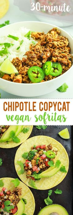 Spicy Vegan Sofritas – 30 MINUTES to dinner and 2 dirty dishes. I've always been obsessed with Chipotle's sofritas and this recipe nails it. We make this for taco night all the time!