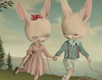The Rabbit and the Monday Misfits by Roby Dwi Antono, via Behance
