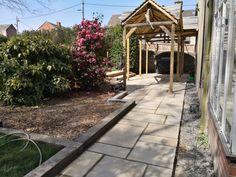 Landscaping, Sidewalk, Building, Side Walkway, Buildings, Sidewalks, Landscape Architecture, Garden Design, Pavement