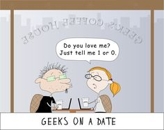 Geeks In Love in a coffee house CUSTOMIZE THE NAME. $19.75, via Etsy.