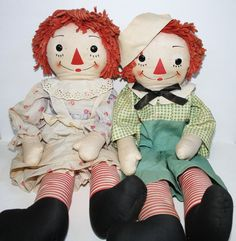 "31"" Georgene Raggedy Ann and Andy, circa 1940s"