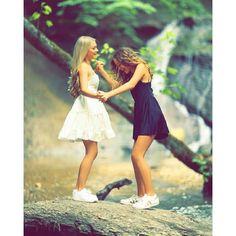 Cute Girl Poses, Cute Girl Pic, Cute Girls, Girl Photos, Couple Photos, Best Friend Photography, Bff Goals, White Dress, Flower Girl Dresses