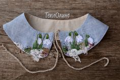Hand Embroidery Flowers, Embroidery Bags, Cute Embroidery, Silk Ribbon Embroidery, Full Skirt Outfit, Sewing Collars, Collar Designs, Embroidered Clothes, Textiles