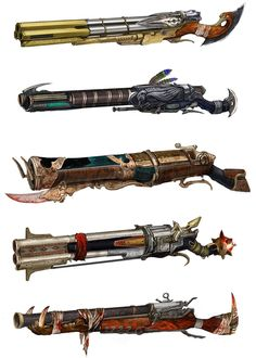 View an image titled 'Pet Master Shotgun Art' in our Nosgoth art gallery featuring official character designs, concept art, and promo pictures. Anime Weapons, Sci Fi Weapons, Weapon Concept Art, Weapons Guns, Fantasy Armor, Fantasy Weapons, Fantasy Character Design, Character Art, 3d Mode