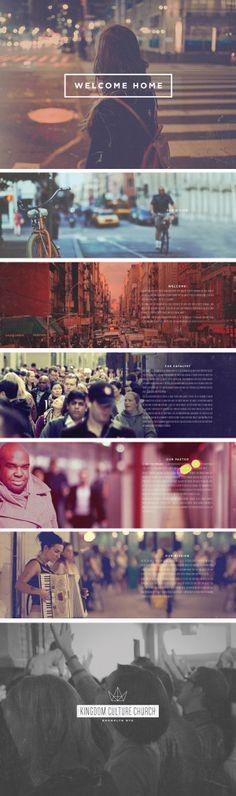 Kingdom Culture Church Brooklyn web design by Stephen Hart Book Design, Layout Design, Cover Design, Church Graphic Design, Church Design, Web Inspiration, Graphic Design Inspiration, Design Ideas, Photoshop