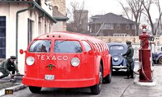 Texaco's Futuristic Streamlined Doodlebug Tank Trucks | The Old Motor