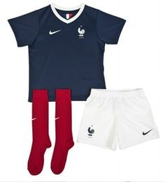 France FIFA 2014 World Cup Boys Home Soccer Kit, is manufactured by Nike and is a replica of the football kit that will be worn by France in the World Cup. More World Cup teams coming to Soccer Box soon.  http://www.soccerbox.com/index.php?command=start&page=products&persist=new&search[name]=boys+kit