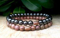 6 mm Gemstone Protection Wrist Mala Yoga by Braceletshomme on Etsy