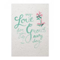 Verras je lief met een bijzondere groeikaart die na ontvangst geplant kan worden. Zo blijft jullie liefde elke dag groeien. Met aandacht voor elkaar en de natuur samen genieten.  Na ontvangst planten en goed verzorgen dan bloeit er wat moois op!