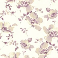 "Brewster Home Fashions 33' x 20.5"" Ludor Floral Wallpaper"