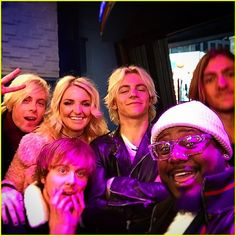 R5 snap a shot with T-Pain backstage at Good Morning America following their performance in New York City on Friday morning (November 28).