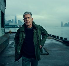 Bourdain at the site of his planned food hall at Manhattan's Pier 57, which is envisioned for 2019.
