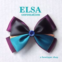 elsa hair bow by abowtiqueshop on Etsy https://www.etsy.com/listing/175562043/elsa-hair-bow