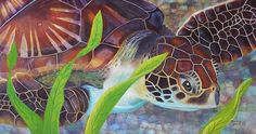 Hawaii Sea Turtle in Acrylic, by ArtistGolanvWaya, on FineArtAmerica.  Please contact the artist directly if you are interested in this painting.