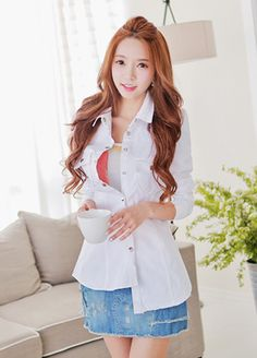 Today's Hot Pick :Patched White Jacket http://fashionstylep.com/SFSELFAA0008203/bapumken1/out High quality Korean fashion direct from our design studio in South Korea! We offer competitive pricing and guaranteed quality products. If you have any questions about sizing feel free to contact us any time and we can provide detailed measurements.