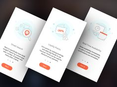 Hey guys! Working on How it Works screens for the MyLocali app. Honestly I'm not quite sure how many iterations I did, there were card views, fancy paging, bright backgrounds, different color optio...
