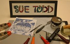 linocut tools supplies | Sue Todd Illustration Blog - Sue Todd Illustration