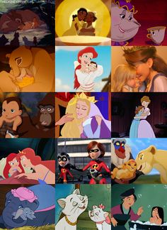 Disney Mothers and their babies