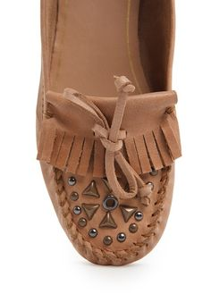 TOUCH - Studded leather moccasins